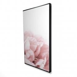 Framed 24 x 48 - 3D - Peony flower dream