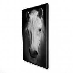 Framed 24 x 48 - 3D - Monochrome horse