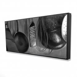 Framed 24 x 48 - 3D - Kitchen tools for chef