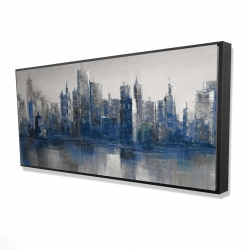 Framed 24 x 48 - 3D - Melancholy city