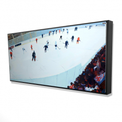 Framed 24 x 48 - 3D - Game of hockey