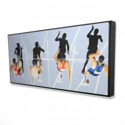 Framed 24 x 48 - 3D - On your marks, get set, go!