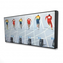 Framed 24 x 48 - 3D - Race of 10 meters
