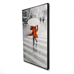 Framed 24 x 48 - 3D - Rainy day in the city