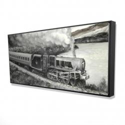 Framed 24 x 48 - 3D - Vintage passenger locomotive