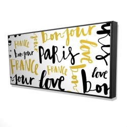 Framed 24 x 48 - 3D - Bonjour paris