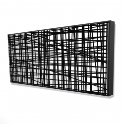 Framed 24 x 48 - 3D - Abstract small stripes