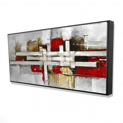 Framed 24 x 48 - 3D - Abstract intertwining shapes