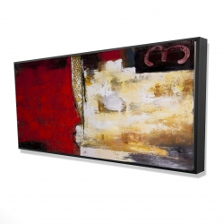 Framed 24 x 48 - 3D - Abstract industrial art with numbers