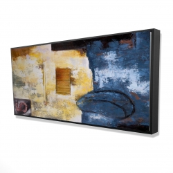 Framed 24 x 48 - 3D - Abstract art with numbers