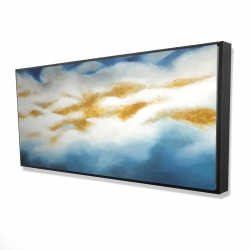 Framed 24 x 48 - 3D - Abstract clouds