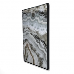 Framed 24 x 48 - 3D - Abstract geode