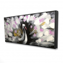 Framed 24 x 48 - 3D - Beautiful spotted peacock