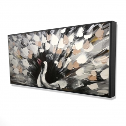 Framed 24 x 48 - 3D - Spotted abstract peacock
