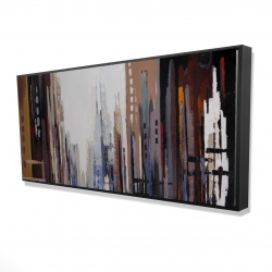 Framed 24 x 48 - 3D - Abstract buildings