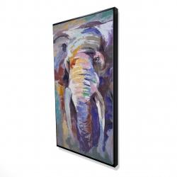 Framed 24 x 48 - 3D - Elephant in pastel color