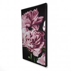Framed 24 x 48 - 3D - Pink peonies