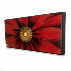 Framed 24 x 48 - 3D - Red daisy