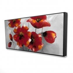 Framed 24 x 48 - 3D - Anemone flowers