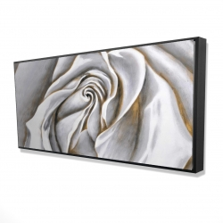Framed 24 x 48 - 3D - White rose delicate