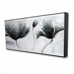 Framed 24 x 48 - 3D - Industrial style flowers