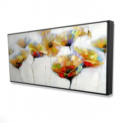 Framed 24 x 48 - 3D - Color spotted flowers