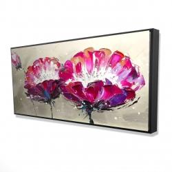 Framed 24 x 48 - 3D - Two wild flowers