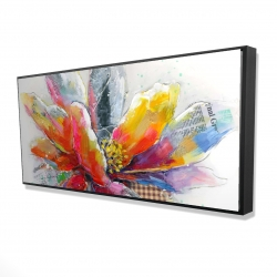 Framed 24 x 48 - 3D - Abstract flower with texture