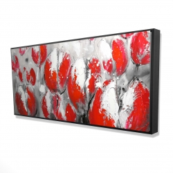Framed 24 x 48 - 3D - Abstract red tulips