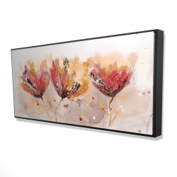 Framed 24 x 48 - 3D - Four little flowers