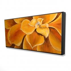 Framed 24 x 48 - 3D - Orange flower closeup