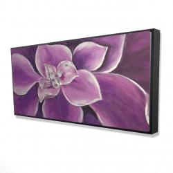 Framed 24 x 48 - 3D - Purple flower closeup