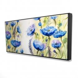 Framed 24 x 48 - 3D - Blue garden