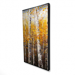 Framed 24 x 48 - 3D - Birches by sunny day