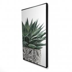 Framed 24 x 48 - 3D - Zebra plant succulent
