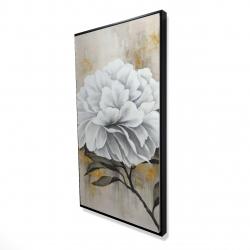 Framed 24 x 48 - 3D - White peony