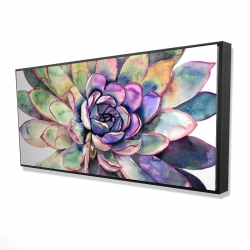 Framed 24 x 48 - 3D - Multicolored succulent
