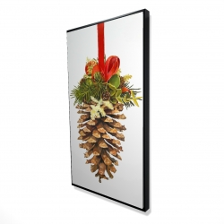 Framed 24 x 48 - 3D - Christmas pine cone