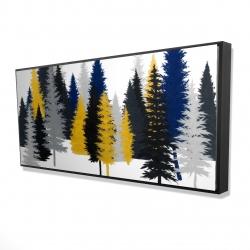 Framed 24 x 48 - 3D - Golden fir