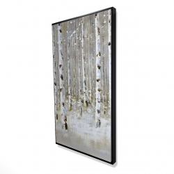 Framed 24 x 48 - 3D - Birch forest by winter
