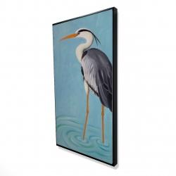 Framed 24 x 48 - 3D - Grey heron