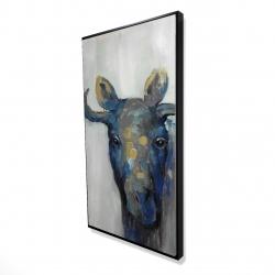 Framed 24 x 48 - 3D - Blue moose