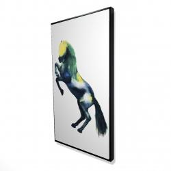 Framed 24 x 48 - 3D - Greeting horse