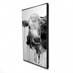 Framed 24 x 48 - 3D - Jersey cow