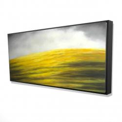 Framed 24 x 48 - 3D - Yellow hill