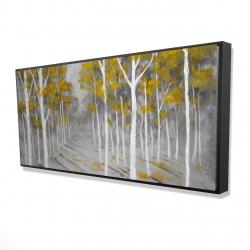 Framed 24 x 48 - 3D - Birch forest