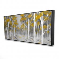Framed 24 x 48 - 3D - Yellow birch forest
