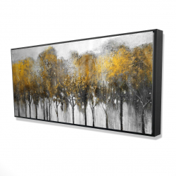 Framed 24 x 48 - 3D - Abstract yellow forest
