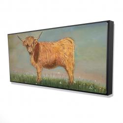 Framed 24 x 48 - 3D - Daisy the highland cow