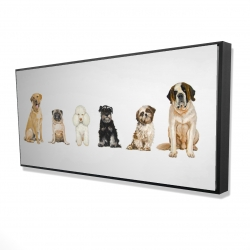Framed 24 x 48 - 3D - Man's best friend